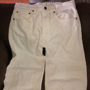 Beautiful white pair USA VINTAGE LEVIS 505s